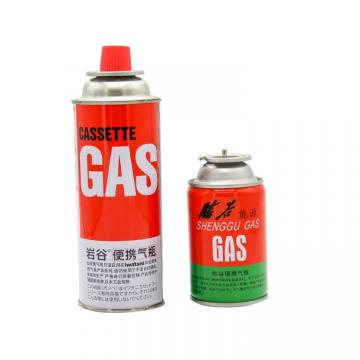 Camping Refill Long ignition time international standard Butane Refill Gas Cartridge made in china