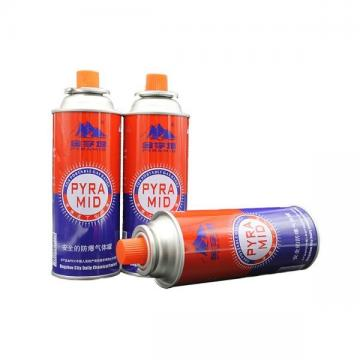 Refined Portable Wholesale refillable aerosol empty spray butane gas can