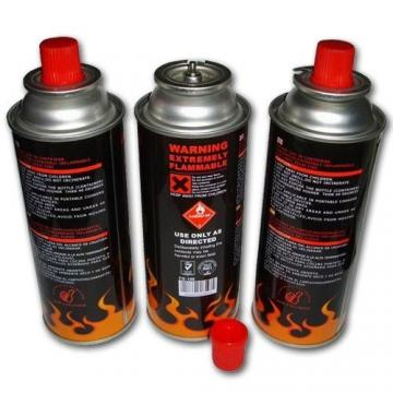 Empty fuel gas canister using butane