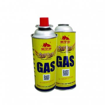 BBQ Fuel Cartridge 400ml portable camping butane gas canister manufacturing