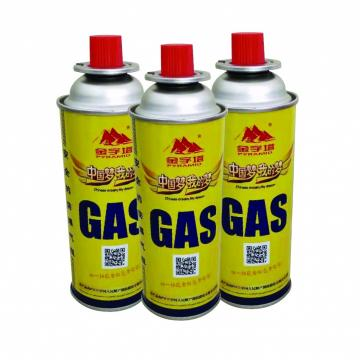 Butane gas canister 220g and tinplate BBQ butane gas cartridge urified butane gas for lighter