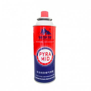 227g Round Shape Empty Aerosol Gas Cans for Filling Butane